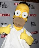 LOS ANGELES - APR 30:  Homer Simpson at the NCTA's Chairman's Gala Celebration of Cable with REVOLT