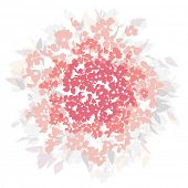 Floral pattern vector background