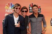 LOS ANGELES - MAY 1:  Keaton Stromberg, Wesley Stromberg, Drew Chadwick, Emblem3 at the 1st iHeartRadio Music Awards at Shrine Auditorium on May 1, 2014 in Los Angeles, CA