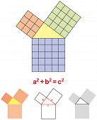 stock photo of pythagoras  - In mathematics - JPG