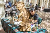 Traditional Hopi Wood Carving Artist Showing Work