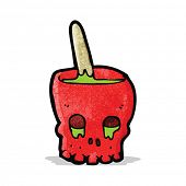 cartoon spooky skull bowl