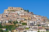 Panoramic view of Rocca Imperiale. Calabria. Italy.