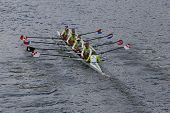 Craftsbury Sculling Center races in the Head of Charles Regatta Men's Championship Eights