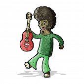 cartoon man with guitar