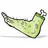 cartoon zombie foot
