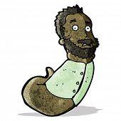 cartoon mutant man