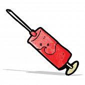 cartoon blood filled syringe