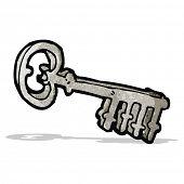 cartoon metal key