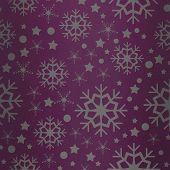 Snowflake pattern against pink vignette