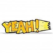 yeah! cartoon symbol