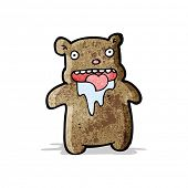 cartoon hungry little bear