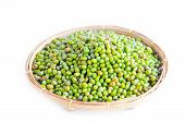 Green Mung Beans In Weave Basket