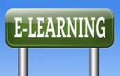 online education internet e-learning in open school or university virtual elearning