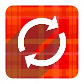 reload red flat icon isolated