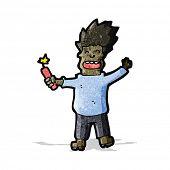 cartoon man with stick of dynamite