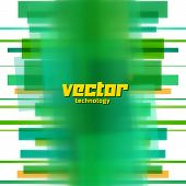 Vector background with green blurred lines
