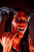image of hade  - Portrait of a devil with horns - JPG