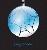 Elegant Christmas Background With Glossy Christmas Ball Embellishment