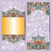 decorative label card for vintage design, ethnic pattern, antiqu