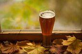 Autumn Beer Glass