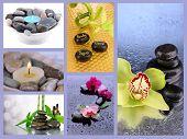 Spa stones collage