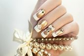 Pearl French manicure.