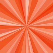 Orange rays background. Vector illustration for your bright beams design