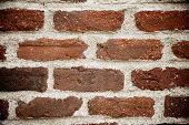 Background created with a old brick wall