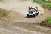 Lorry In Drift