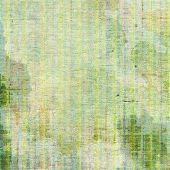 Old-style background, aging texture. With yellow, green, white patterns