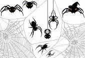 image of spiderwebs  - Halloween spider design set  - JPG