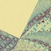 Cracks and stains on a vintage textured background. With yellow, purple, blue, gray patterns