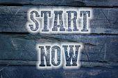 Start Now Concept