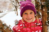 Winter, Snow - Lovely Girl Has A Fun In Snow