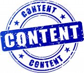Content Blue Stamp Icon