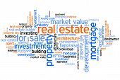 pic of trade  - Real estate investment and trading word cloud illustration - JPG