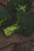 Vegetables, food. Delicious broccoli on the table