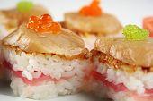 Sushi With Tuna, Scallops And Caviar