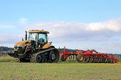 Challenger MT765C Tracked Agricultural Tractor And Cultivator