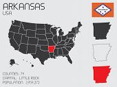 Set Of Infographic Elements For The State Of Arkansas