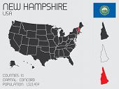 Set Of Infographic Elements For The State Of New Hampshire