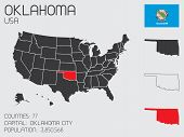 Set Of Infographic Elements For The State Of Oklahoma