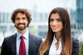 Portrait of smiling business partners