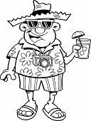 Cartoon Tourist