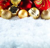 picture of golden  - Winter and Christmas background - JPG