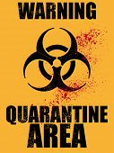 biohazard quarantine area background