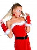 Model dressed as Santa