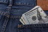 Us Dollars In A Pocket