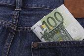 Euros (eur) Notes In A Pocket